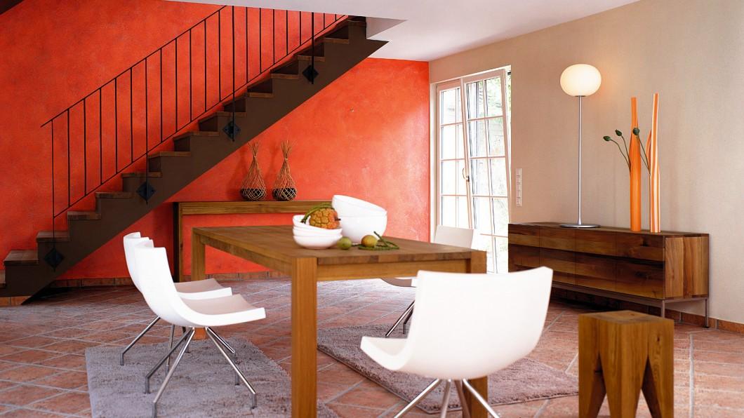 Wand, Innenraum, modern, Tapete, Putz