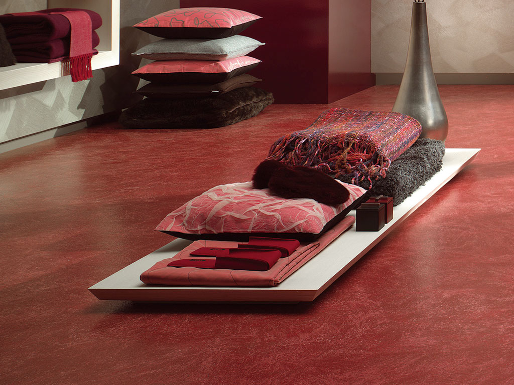 Boden, rot, Bodenbelag, modern